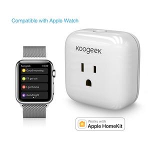 Image 3 - Koogeek Wi Fi Smart Socket for Apple HomeKit Amazon Alexa Voice Control  App control Smart Plug Timer Energy Monitoring US Plug