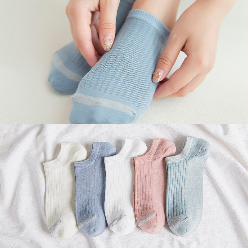 1Pair New Spring Summer Women Girls Cute Light Color Cotton Soft Short Socks High Quality Low Ankle Invisible Ladies Socks