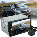 "2 Din 7"" In Dash HD Car Audio Video MP5 Player 1080P Bluetooth V3.0 USB Port Automobiles Car Radio Player With Rear View Camera"
