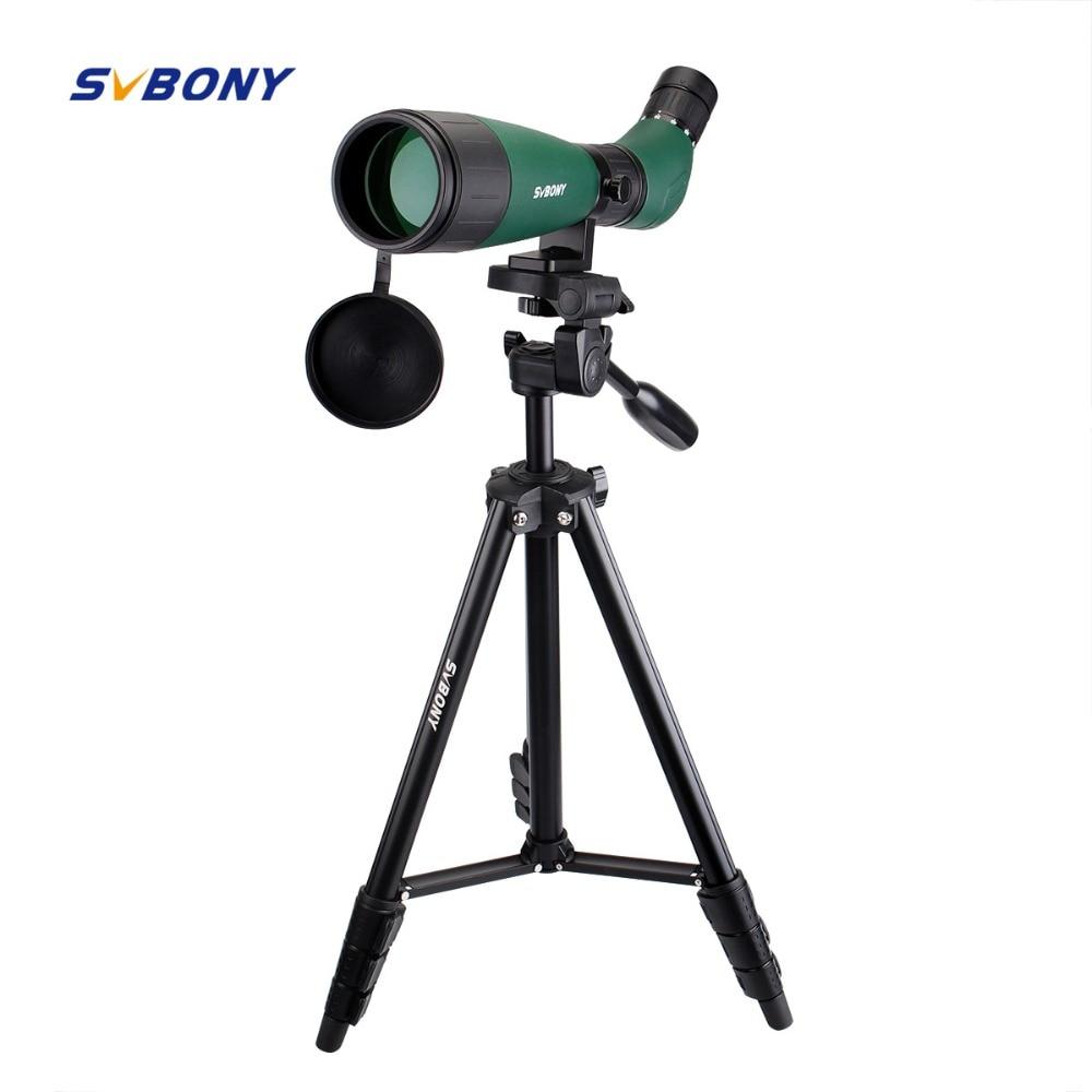SVBONY SV18 Spotting Scope 20-60x60 Monoculaire Télescope Compact Tir Chasse Tir À L'arc Birdwatch avec 54 ''Longue Trépied F9327
