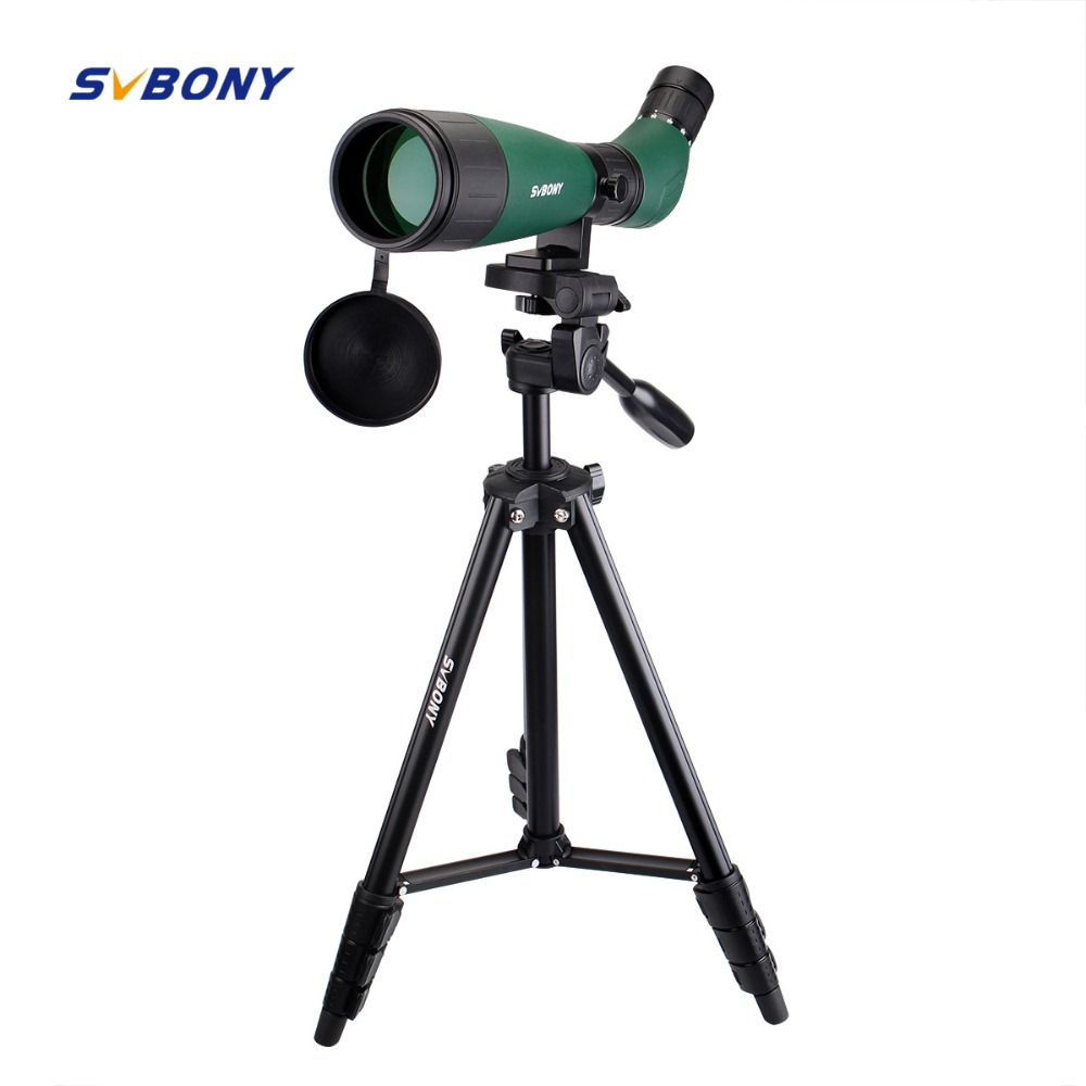 SVBONY SV18 Spotting Scope 20-60x60 Monocular Telescope Compact Shooting Hunting Archery Birdwatch with 54'' Long Tripod F9327 цена