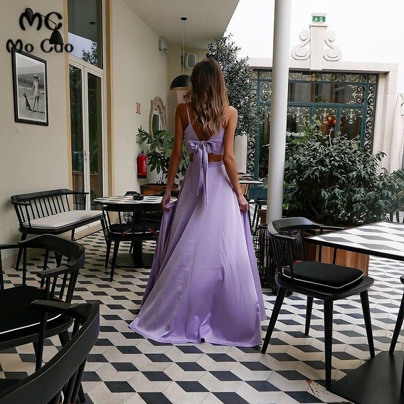 A Line Two Piece Spaghetti Straps Lilac Prom Dress33