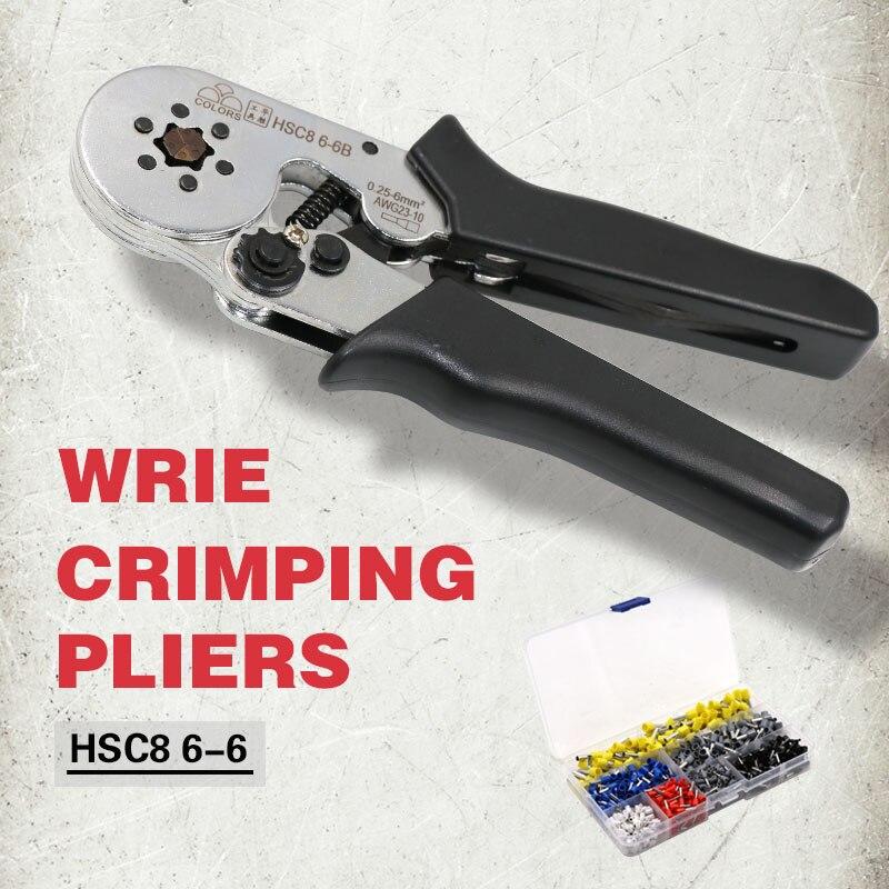 COLORS crimping tool hsc8 6-6 6-4 crimper kablo kesici pliers cable crimp tools plier wire cutter alicate crimpador alicates