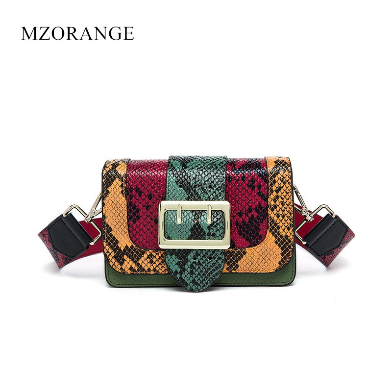 NEW 2018 Vintage Women Handbags Genuine Leather Serpentine Lady Flap Shoulder Bag Messenger Bags Small Casual Tote Party Bags vm fashion kiss genuine leather serpentine chain small messenger bags for women high quality mini shoulder bags falp bag lady