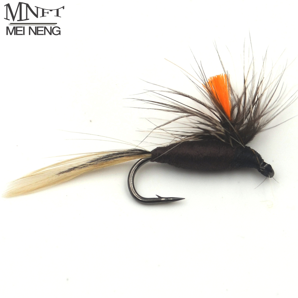 MNFT 10PCS 10#  Orange Grey Fly Fishing Parachute Dry Fly Trout Flies Fishing