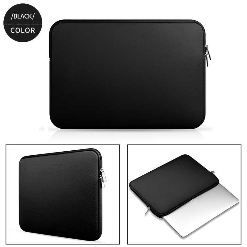 Lembut Tas Laptop Xiaomi Dell Lenovo Notebook Komputer Laptop untuk Macbook Udara Pro Retina 11 12 13 14 15 15.6 Lengan Case Penutup