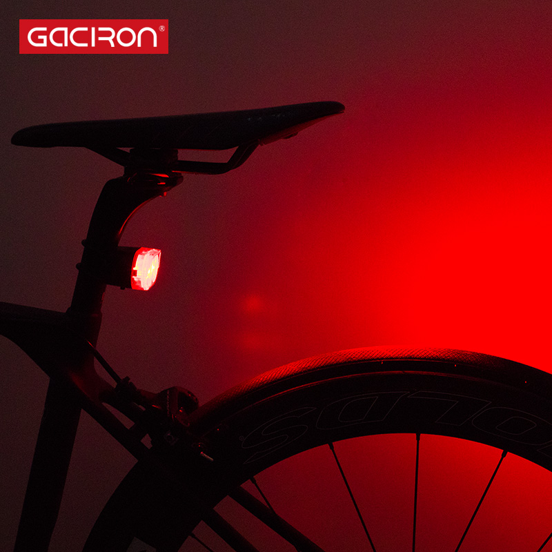 USB Rechargeable Bike LED Tail Light Bicycle Safety Cycling Warning Rear Lamp FK
