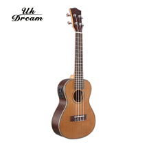 27 Inch 18 Frets Wooden Electric Guitar Musical Instruments Ukulele  Guitar 4 Strings Ukelele Guitarra Rosewood UT-63EQ disado 21 frets inlay dots maple electric bass guitar neck rosewood fingerboard wholesale guitar accessories musical instruments
