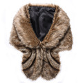 Newly design fur shawl thick faux fur scarf imitated rabbit fur cape winter women warm fur pashmina