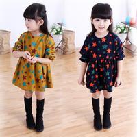 Girls Dress Winter Brand Toddler Kids Clothes Pentagram Long Sleeve Dress for Children Baby Girl Clothes Princess Dress 2-8Y
