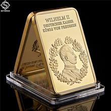 1888-1918 kolekcja złotych prętów cesarza wilhelma II von Deutschland cheap SMJY CN (pochodzenie) Pozłacane Europa Galwanicznie 1880-1899 Ludzi Brand New and High Quality Gold 44mm*28mm About 1OZ
