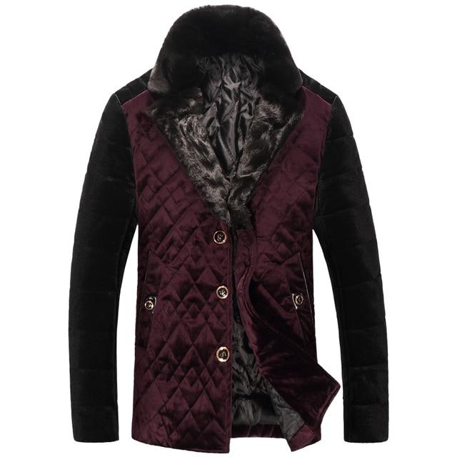 2016 new arrival winter high quality men's Velour fabric Down & Parkas,winter coat men ,Plus-size M, L,XL,2XL,3XL,4XL