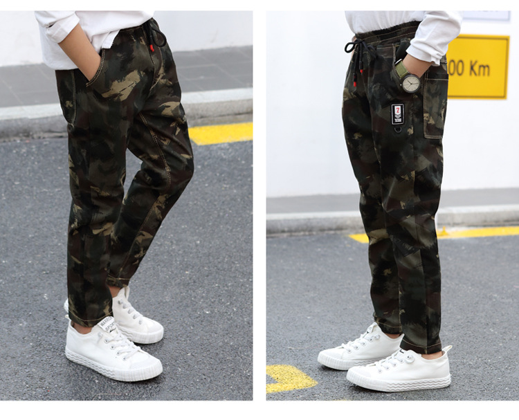 HTB1HXLPa5HrK1Rjy0Flq6AsaFXaB - Children Jeans Pants 2019 Spring Autumn Korean Version Kids Casual Camouflage Trousers For Boys 4 6 8 10 12 Years Pants DWQ025
