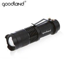 Goodland – lampe de poche étanche à LED, torche tactique puissante, Portable, Zoomable, 3 modes, pour vélo et Camping