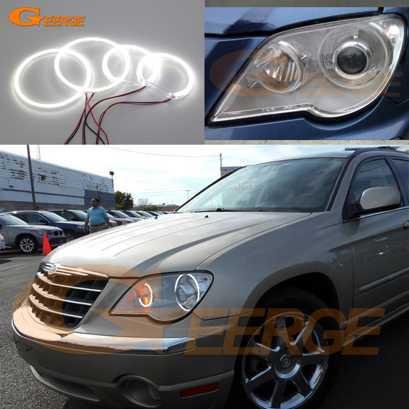 For Chrysler Pacifica 2007 2008 XENON headlight Excellent Ultra bright illumination smd led Angel Eyes Halo Ring kit