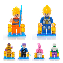 ONSHINE BIG  Dragon Ball Z Super Saiyan Son Goku Action Figure Toy Dragonball Brick Head Mini Building Blocks