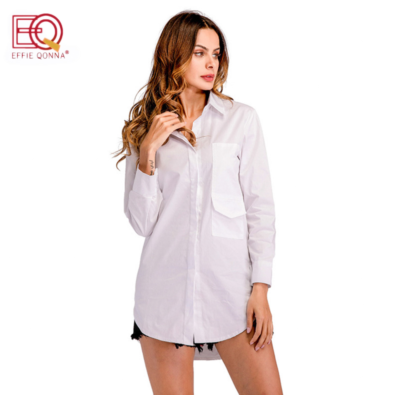 Woman's Long Sleeve Button-up Collard Dress Shirt