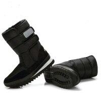 Men Winter Boots 2017 Autumn Shoes Black Snow Boot Man Big Plus Size 36 To Size