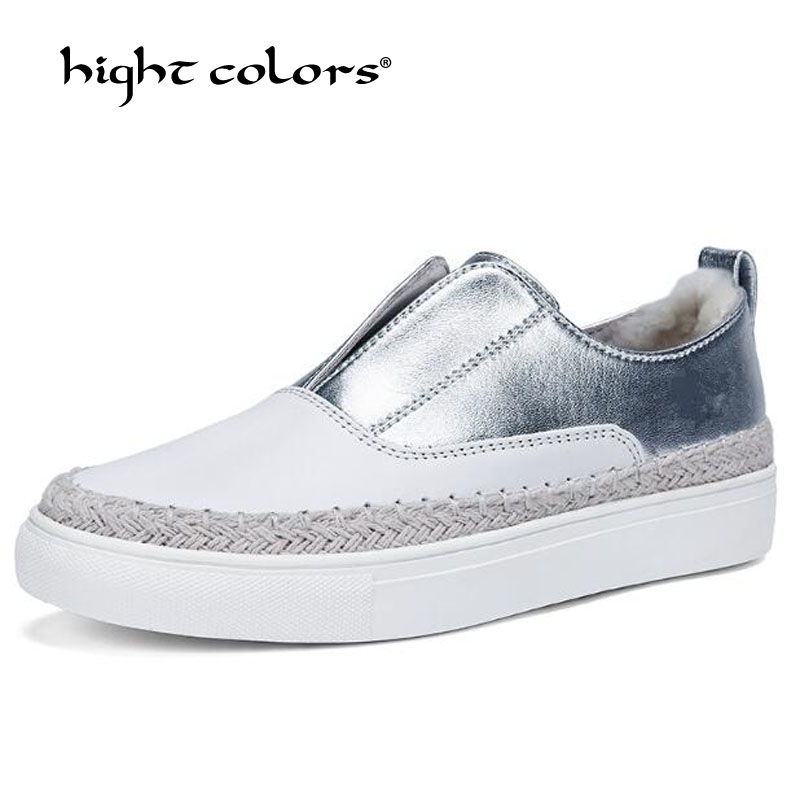 New 2019 Spring Breathable Comfortable Shoes Women Flats Cow Leather Fashion Women's Casual Brand White Silver Gold Black Shoes