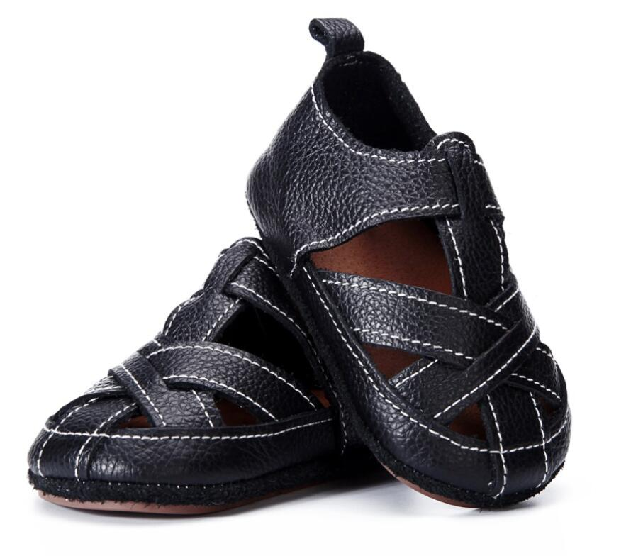 Genuine Leather Frist Walker Baby Shoes Toddler Moccasins Breathable Hollow Summer Girls Boys Shoes Hard Bottom High Quality