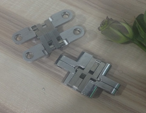15pcs/Lot 13*60mm Conceal Hinges For Folding Sliding Door Mortise 180 Degree Turning Concealed Cross Hinge