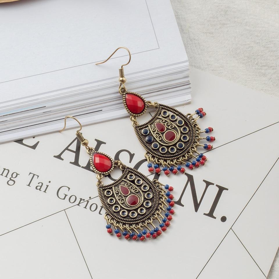 Luxury Bohemian Ethnic Wedding Drop Earrings for Women