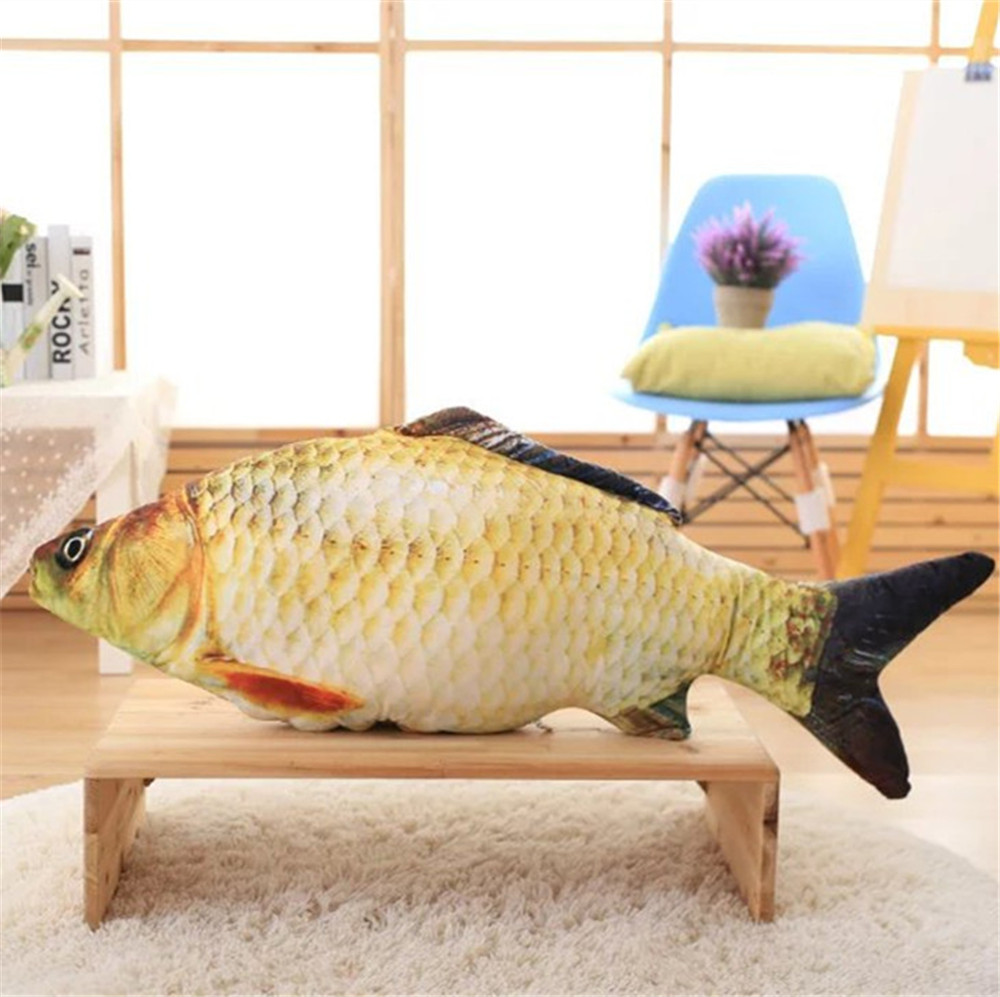 2017 Hot Sale New Fish Plush Toys Simulation Fish Soft Crucian Carp Stuffed Animals Dolls Cartoon Golden Fish Gift For Kids