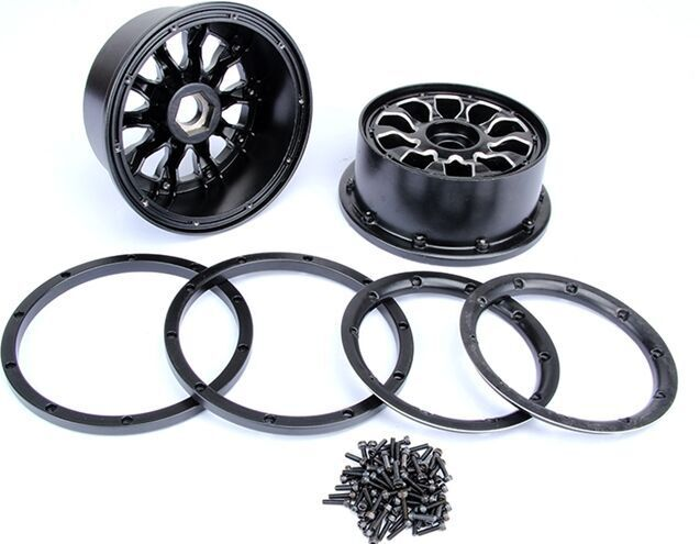 CNC alloy metal wheel hub set fit HPI LOSI 5IVE -T ,ROVAN LT losi 5ive t hd billet rear hub carriers
