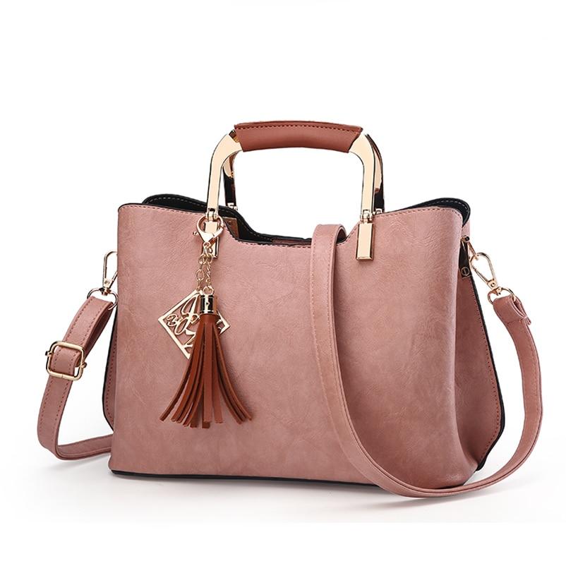 Nevenka Brand Design Women Luxury Handbags Female Tassel Sequined Messenger Bag Quality Leather Tote Solid Zipper Evening Bags07