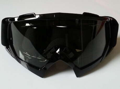 Ski Snowboard Snowmobile Motorcycle Goggles Off Road Eyewear Black Frame Clear Lens ballistic glasses