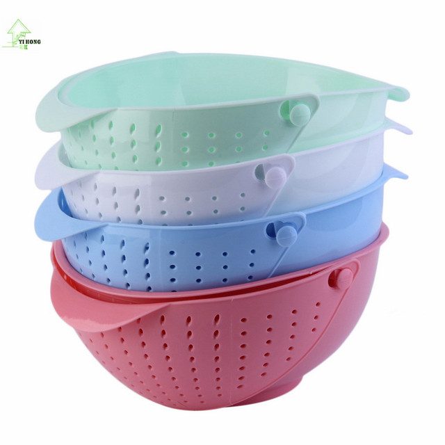Yihong 3 In 1 Clamshell Rice Fruit Vegetable Wash Strainer Sieve Kitchen Tool Tools