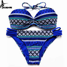 Swimsuit Brazilian Bikini Set Sexy Floral Bandage Strappy Plus Size Swimwear Bikinis Women Bandeau Biquini Bathing Suits