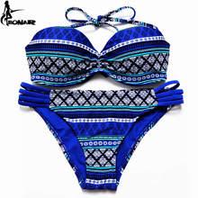 Swimsuit 2017 Brazilian Bikini Set Sexy Floral Bandage Strappy Plus Size Swimwear Bikinis Women Bandeau Biquini Bathing Suits