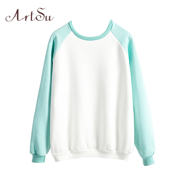 ArtSu Cute Long Sleeve Sweatshirt for Women Hoodies Autumn Winter Harajuku Casual Tops Plus Size Hoodie Sudaderas ASHO20021