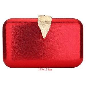 Image 5 - Rot Kupplung Tasche Weihnachten Abend Taschen Für Frauen Pailletten Kette Schulter Tasche Weibliche Party Hochzeit Kupplungen Geldbörse Pochette Femme