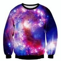 11 색 패션 공간 galaxy 후드 크루 넥 인쇄 3d 스웨터 남성/여성 긴 셔츠 남녀 하라주쿠 스웨터 sudadera