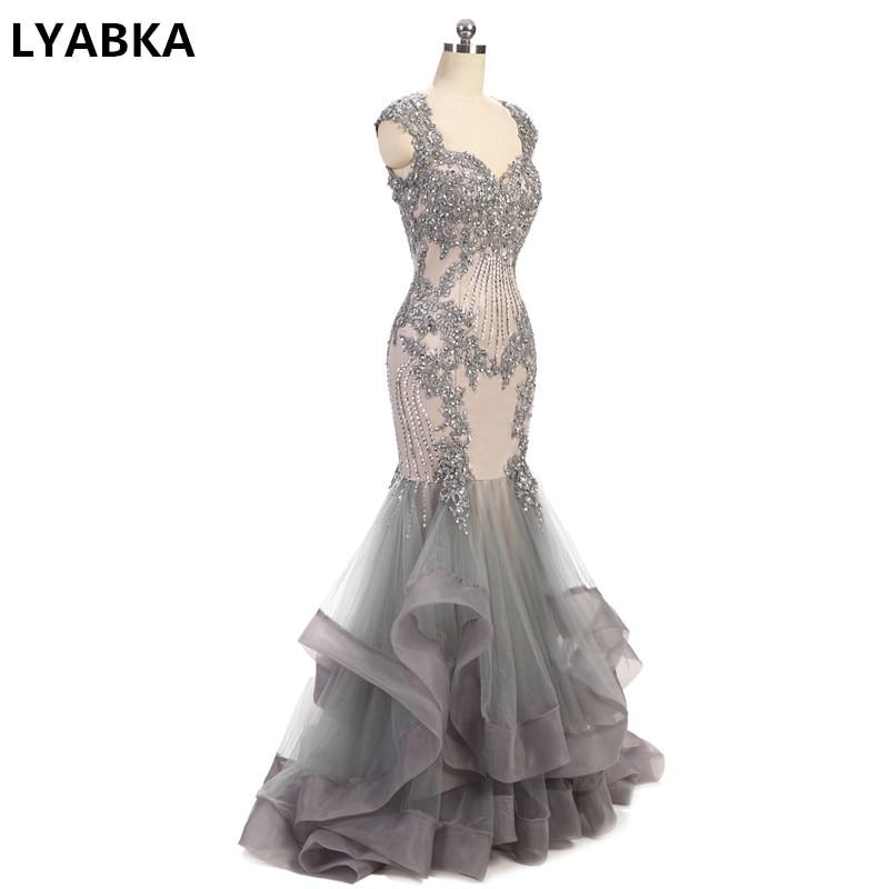 Kaftan Evening Dress Sexy Sweetheart Evening Dresses Sleeveless Robe De Soiree 2020 Vestido De Festa Grey Mermaid Evening Dress