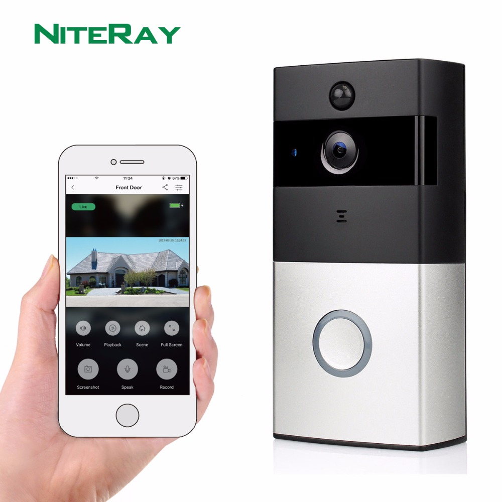 WiFi Smart Video Doorphone 1.0MP HD 720P IP Camera Wireless Video Intercom System Waterproof IOS Android APP Mobile Doorbell zilnk video intercom hd 720p wifi doorbell camera smart home security night vision wireless doorphone with indoor chime silver