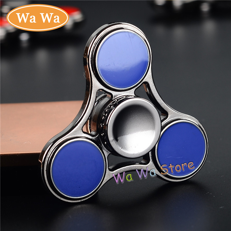 Fingertip gyroscope Tri Spinner Fidget Toy Alloy EDC Hand Spinner For Autism and ADHD hand spinner