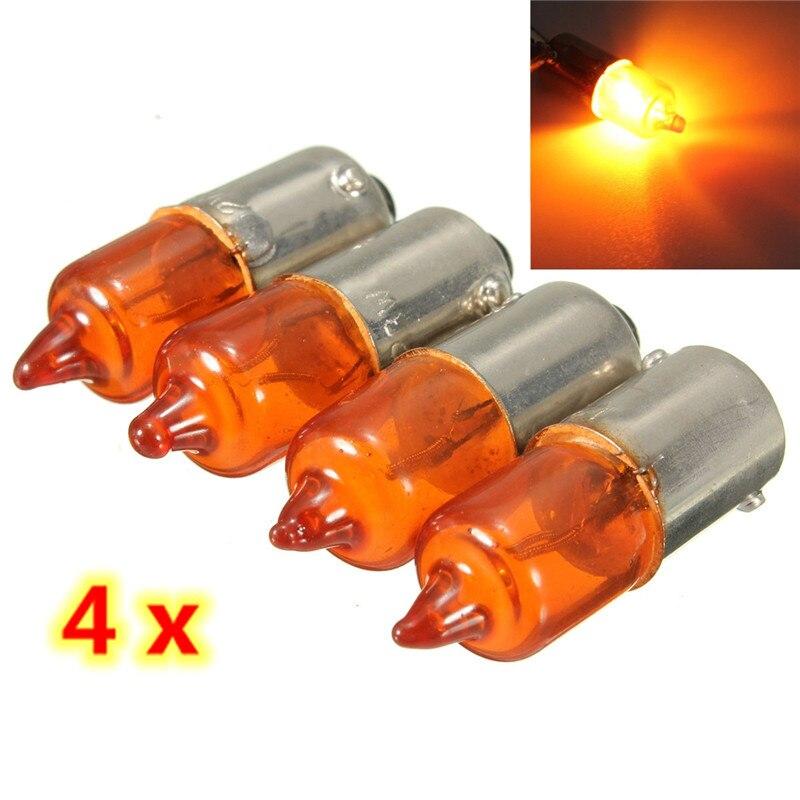 12v 21w Amber Universal Auto Car Motorcycle Motorbike Scooter Mini Miniature Indicator Light Bulbs