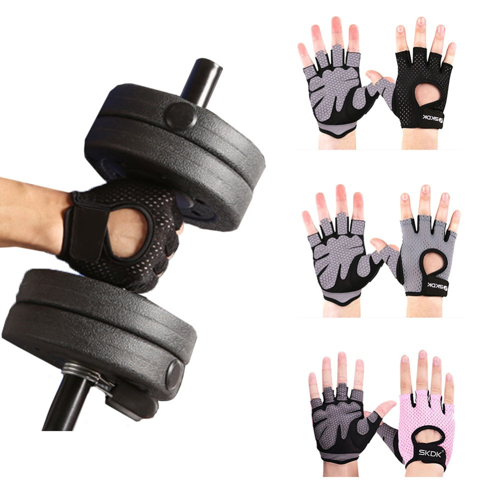 Gym Weightlifting Cycling Yoga Men/women Fitness Gloves Bodybuilding Training Breathable Non-slip Half Finger Gloves