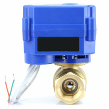 1*Electric -10°C To 40°C Valve Motorized Ball 3/4 Brass 9V 12V 24V Normally Closed 2 Wire Auto Return