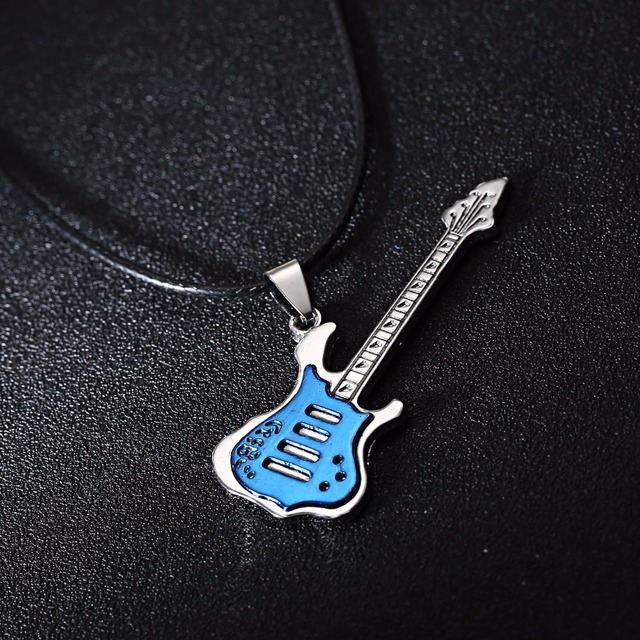 Leather Braided Guitar Necklace