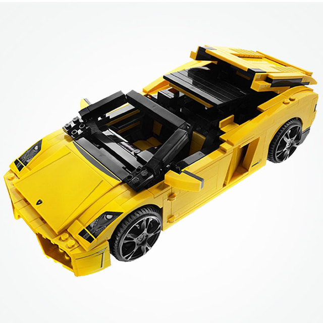 Yile 011 Technic Car Series The 8169 Gallardo LP 560-4 Speed Sports Car Building Blocks Bricks Assembly Kids Cars Toys Gifts