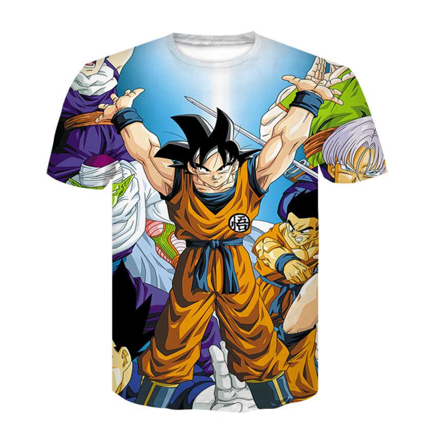 ... New fashion Dragon Ball Goku Children women fashion short sleeve  T-shirt 3 d digital ... ddd861d5786