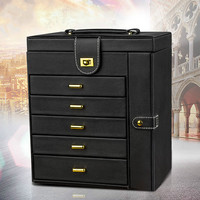 Multifunctional Jewelry Box Large Capacity Jewelry Storage Box European Ring Box Gift Organizer Box Storage Organizer