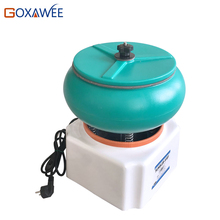 GOXAWEE 12″ Vibratory Tumbler Polishing Machine Jewelry Finishing Grinding Tools Machines Gemstone Pearl Polishing Machine