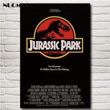 Постер фильма «Парк Юрского периода» NUOMEGE, распечатанный на шелковой ткани, картина из фильма, настенные художественные картины для гостино...