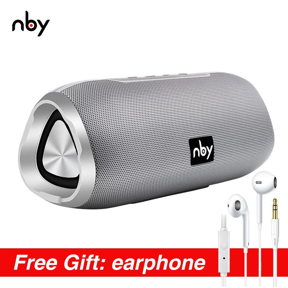 nby 6670 Waterproof Bluetooth Speaker Portable 3D Stereo Music Sound Wireless Loudspeaker Outdoor Woofer Speakers 10W FM Radio Portable Speakers     - title=
