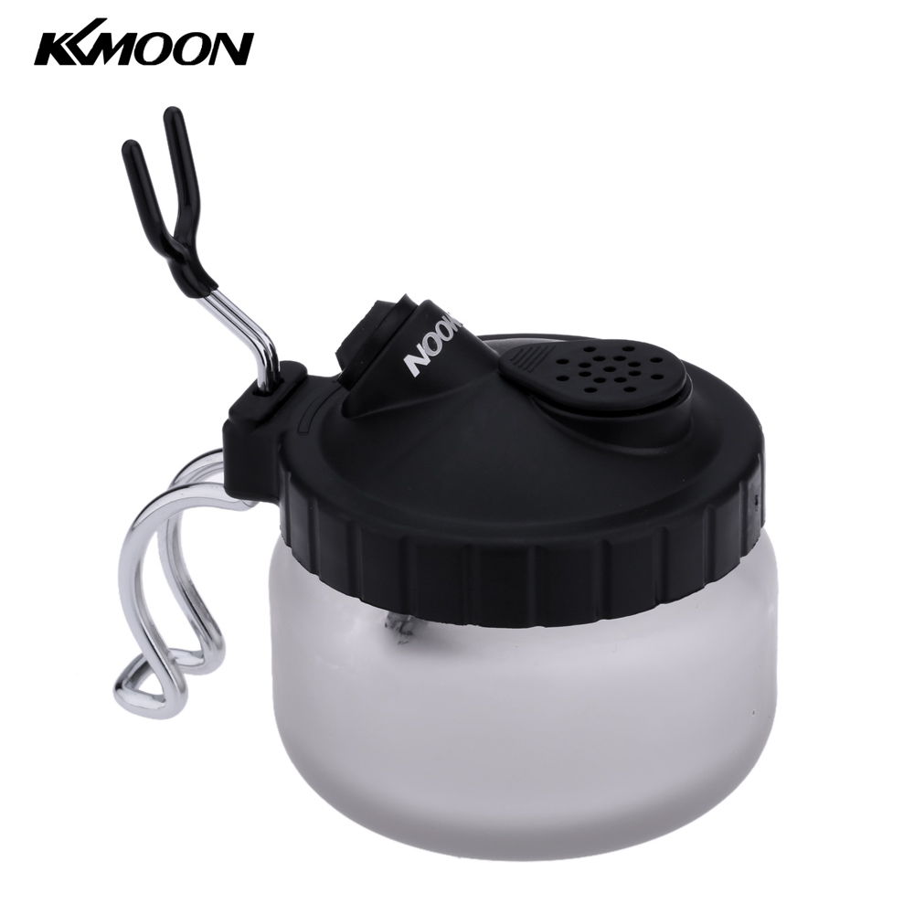 KKmoon Professional Airbrush Cleaning Pot Glass Spray Gun Holder Clean Paint Jar Bottle Manicures Tattoo Supply